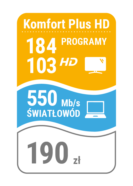 pakiet telewizja + internet 550